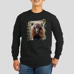 Stone_Paws_Poodle_Chocola Long Sleeve Dark T-Shirt