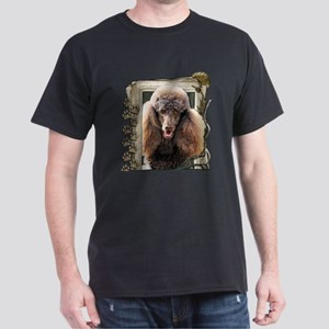 Stone_Paws_Poodle_Chocolate Dark T-Shirt