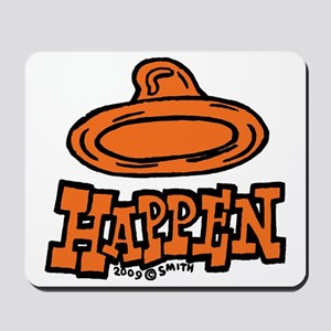 condom_happen_left_orange Mousepad