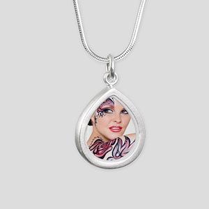 PG_Magentas Silver Teardrop Necklace