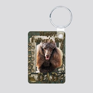 Stone_Paws_Poodle_Chocolat Aluminum Photo Keychain