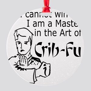 Crib Fu Round Ornament