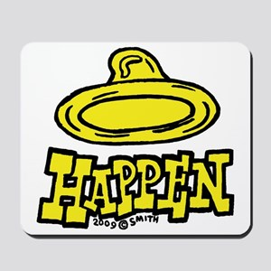 condom_happen_left_yellow Mousepad
