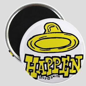 condom_happen_left_yellow Magnet