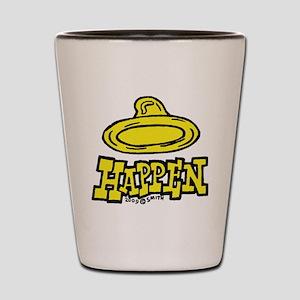 condom_happen_left_yellow Shot Glass