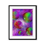 Inner Flow I Abstract Violet Framed Panel Print