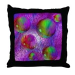 Inner Flow I Abstract Violet Throw Pillow