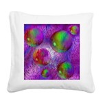 Inner Flow I Abstract Violet Square Canvas Pillow