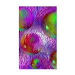 Inner Flow I Abstract Violet 20x12 Wall Decal