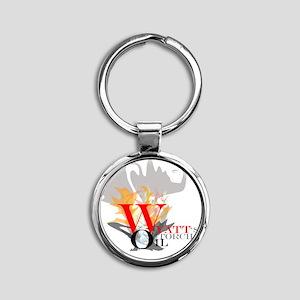 WyattsTorch Round Keychain