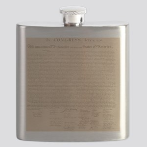 Us_declaration_independence_antique_square_T Flask