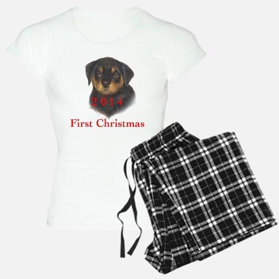 2014 First Christmas Rottie Pajamas
