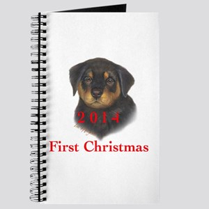 2014 First Christmas Rottie Pup Journal