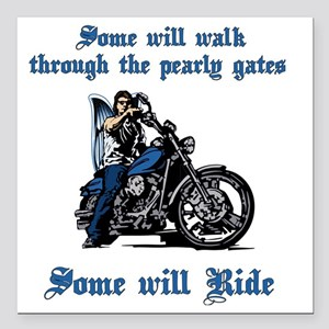 """Some will walk some will Square Car Magnet 3"""" x 3"""""""