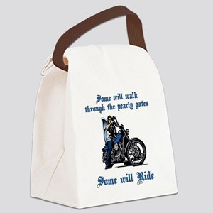 Some will walk some will ride Canvas Lunch Bag