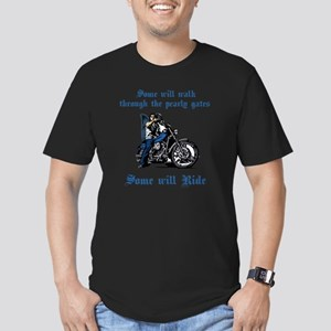 Some will walk some wi Men's Fitted T-Shirt (dark)