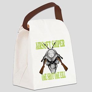 sniper skull Canvas Lunch Bag