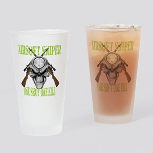 sniper skull Drinking Glass