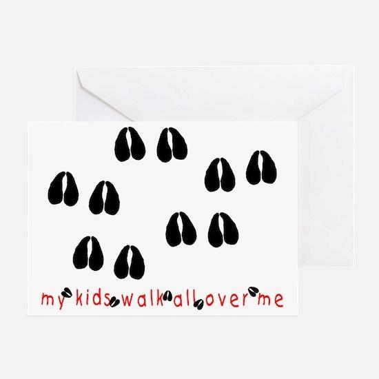 KidWalkHooves Greeting Card