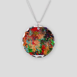 Beautiful Vomit Necklace Circle Charm