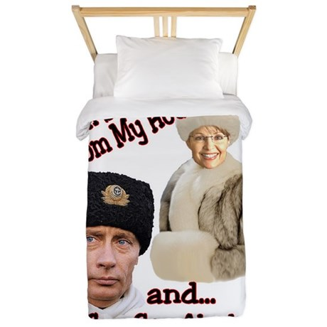 Putin and Palin Twin Duvet