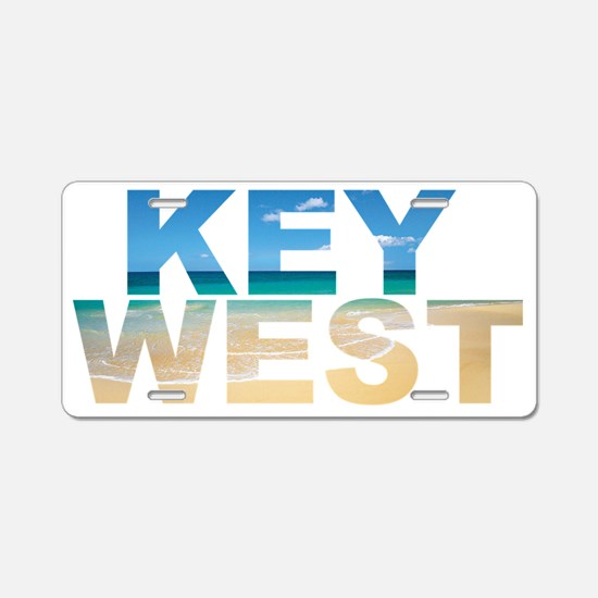 KEY WEST Aluminum License Plate