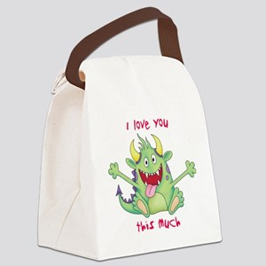love you this much Canvas Lunch Bag