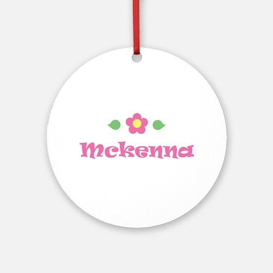 """Pink Daisy - """"Mckenna"""" Ornament (Round)"""