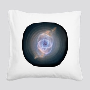 3-space_catseye Square Canvas Pillow