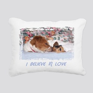 2-I BELIEVE IN LOVE Rectangular Canvas Pillow