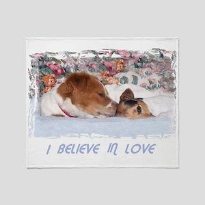 2-I BELIEVE IN LOVE Throw Blanket