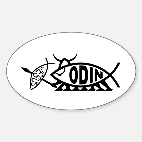 Odin Fish Oval Decal