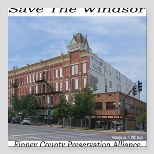 """savethewindsorpillow Square Car Magnet 3"""" x 3"""""""