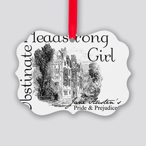 obstinate_girl_pemberly Picture Ornament