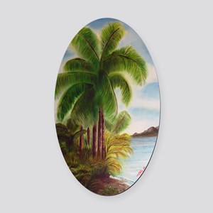Royal Palm Poster Oval Car Magnet
