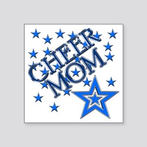 "2-cheer_mom Square Sticker 3"" x 3"""