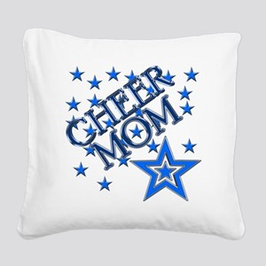 2-cheer_mom Square Canvas Pillow