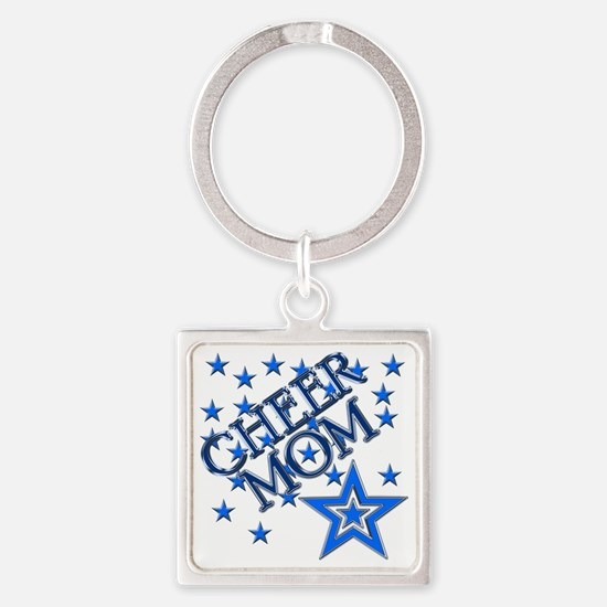 2-cheer_mom Square Keychain