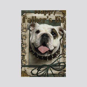 Stone_Paws_Bulldog_Lt Rectangle Magnet