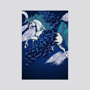 Winged Unicorn PosterP Rectangle Magnet