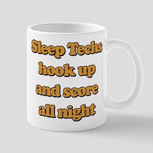 Sleep Techs Hook Up And Score Al 11 oz Ceramic Mug