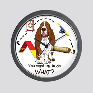 BassetDOWHAT Wall Clock