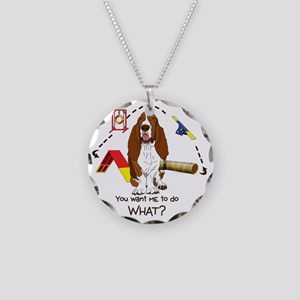 BassetDOWHAT Necklace Circle Charm