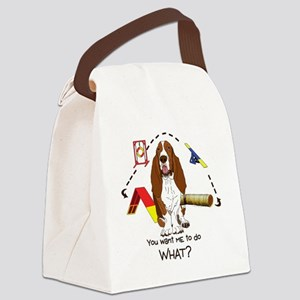 BassetDOWHAT Canvas Lunch Bag