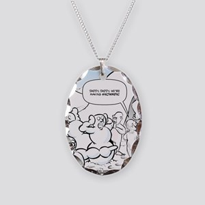 Abominable Snowmen Final Necklace Oval Charm