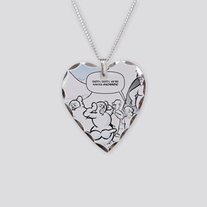 Abominable Snowmen Final Necklace Heart Charm