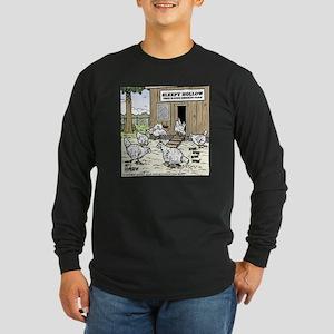 Sleepy Hollow Chicken Far Long Sleeve Dark T-Shirt