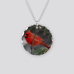 Male Cardinal 02-02-10 340 Necklace Circle Charm