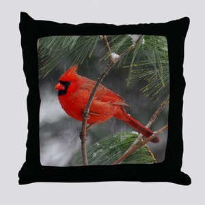 Male Cardinal 02-02-10 340 Throw Pillow