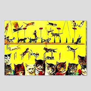 Vintage Cat Circus Act Postcards (Package of 8)